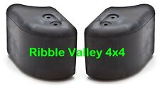 DPT100070 PAIR OF GENUINE LAND ROVER DEFENDER FRONT BUMPER END CAPS WITH CLIPS