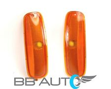NEW FRONT SIDE MARKER LIGHT LENS SET OF 2 FOR 96-02 CHEVY EXPRESS VAN GMC SAVANA