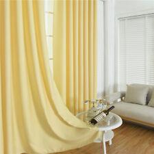 Rideaux Occultants De Fenêtre Store Pour Chambre Salon 140x245cm Jaune