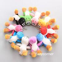 "10 Pcs New Super Mario Bros. YOSHI Plush Doll Soft Toy Keychain 4.5"" Pendant"