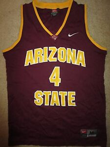 ASU Arizona State Sun Devils #4 Basketball Nike Jersey Medium M