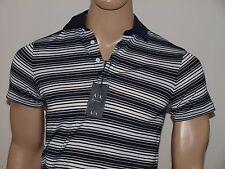 Armani Exchange Authentic Multi Stripe Polo Shirt White NWT