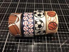 Mix Lot 20 Yard Ribbons Sports Football Soccer Basketball Baseball-fast Ship