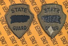US Army Puerto Rico State / National Guard OD Green & Black patch m/e