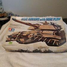 tamiya m1a1 Abrams with mine plow model kit