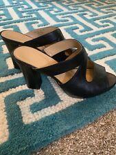 Naturalizer Comfort Black Leather Slide Sandal Size 6.5 M