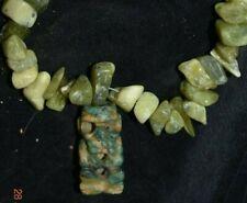 """Sale! Pre Columbian Mayan Light Jade Necklace 15""""+ Prov"""