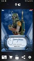 Topps Digital Star Wars Card Trader Signature Series Jeremy Bulloch Boba Fett