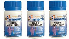 KIDZ MINERALS Cold & Cough Relief 100 tablets x 3 strawberry Schuessler