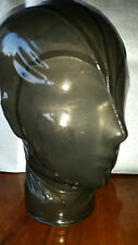 "Neuf Latex Rubber Medium Lar 15"" Multi Panneau Semi Trans Hood Mask Handmade Gummi"