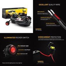 Off Road LED Light Bar Wiring Harness Kit 12V Waterproof Switch For ATV SUV UTV