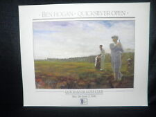 Masters Champion Ben Hogan Quick Silver Open Golf Lithograph