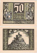 Germania 50 Pfennig 1921 NOTGELD schalkau UNC FIOR BANCONOTA-Castle