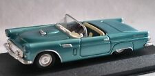 1956 FORD T-BIRD CONV BLUE 1:43 NEW-RAY DISPLAY BASE & CASE WINDOW BOX MINT NOS