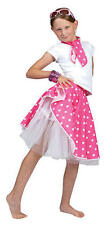 Childrens Rosa Rock 'n' Roll Gon na Costume grasso Ragazze 50s Costume Kids