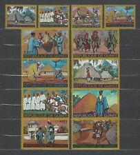 Guinea 1968 Sc#493-503  Homes & People  MNH Set $9.05