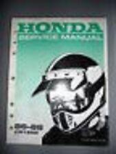 Honda Service Manual 1986-1988 CR125 R CR125R