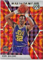 2019-20 Panini Mosaic KARL MALONE Hall Of Fame REACTIVE ORANGE PRIZM Jazz