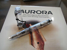 Aurora Optima Demonstrator Clear LE piston fill fountain pen M 18kt Au nib MIB