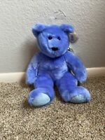 """TY LARGE Beanie BUDDY Plush 1999 Clubby II the Teddy Bear 14""""! NWT!"""