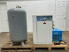 996 Hours Powerex 5hp Screw Type Air Compressor 147 Scfm Donaldson Dryer Amp Tank