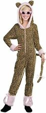 CRAZY CAT LEOPARD JUMPSUIT w/HOOD CHILD HALLOWEEN COSTUME GIRLS SIZE MEDIUM 6-8