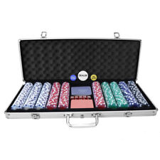 Oypla Poker Set - 500 Piece Texas Hold EM Complete With Chips Cards Dice and CAS