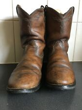 Ariat Heritage Roper Womens Leather Mid Calf Cowboy Boots Brown size 7.5 RRP$250