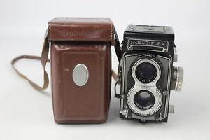 Rolleiflex Model T TWIN LENS CAMERA w/ Carl Zeiss Tessar 75mm Lenses WORKING