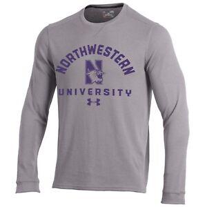 Northwestern Wildcats NCAA Men's Under Armour Waffle Knit Long Sleeve Shirt, 3XL