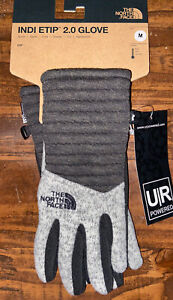 NWT The North Face Women's Indi Etip 2 Glove WILD OAT HEATHER  Size Medium