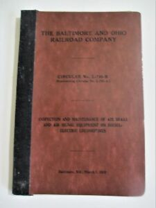 Vintage 1959 Baltimore and Ohio B&O Railroad Air Brake Maintenance Inspection