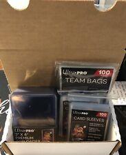 Trading Card Supply Kit (25) Premium Toploaders (100) Team Bags (200) Sleeves