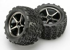 Traxxas Gemini Black Chrome Wheels w/ Talon Tires 1/16 E-Revo