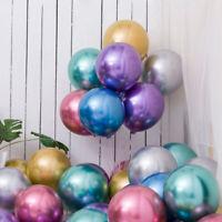 "50Pcs 12"" Metallic Balloons Shiny Latex Bouquet Ballon Wedding Birthday Party US"