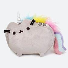 """Pusheen Stuffed Plush Unicorn, 13"""" Toy Gray Comic Cat Kitty Unicorn Gift"""