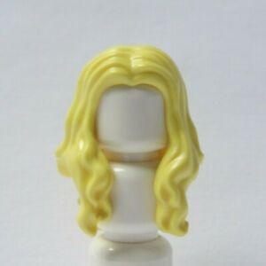 Lego Female Girl Minifigure Figure Hair Wig  Long  Yellow Blonde Over Shoulder