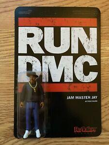 "SUPER7 REACTION 3.75"" RUN DMC JAM MASTER JAY ACTION FIGURE NEW"
