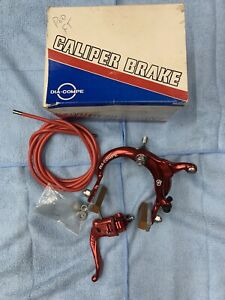NOS Dia-Compe 880 Brake Kit Front /Tech 4 Lever 1985 Red Anodized Old School BMX
