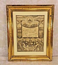 Antique Engraved Birth Certificate Catherine Dietrich 1836 Berks County PA