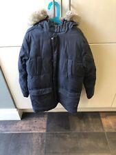 Boys Armani Parka Coat Age 12 Navy With Fur Collar