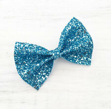 Striking Blue sparkly glitter hair bow - Kawaii