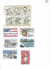 8,21,25,28,31,44,45 cent u.s. air mail stamps(12)-used (33)