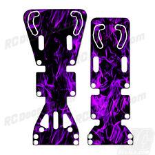 T-Maxx / E-Maxx INTEGY Skid Plate Protectors Digital Flames -Purple-Traxxas