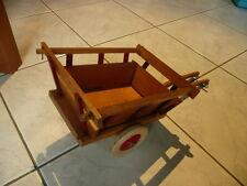 Ancien jouet en bois attelage , chariot  DEJOU