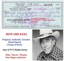 HOWARD KEEL FILM STAR ACTOR  GENUINE HAND SIGNED BANK CHEQUE   1972    RARE ITEM
