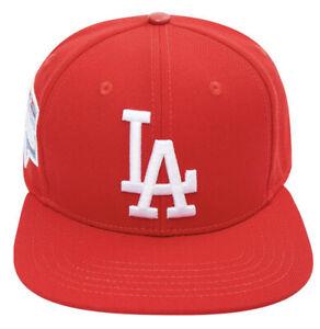 LOS ANGELES DODGERS LOGO 2020 WORLD SERIES SNAPBACK HAT Red Pro Standard