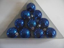 10 Blue 2 Inch Pack Shatter Resistant Christmas Patriotic Ornament Decoration