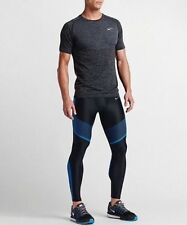 Nike Men's Power Speed Running Tights Black Blue 717750-018 Size XL New RRP £105