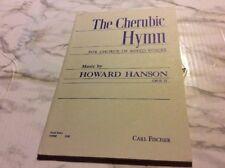 The Cherubic Hymn For chorus of Mixed Voices Howard Hanson Sheet Music Score